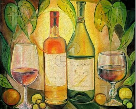Wine at Sunset - Canvas Art Designs :: Canvas Print