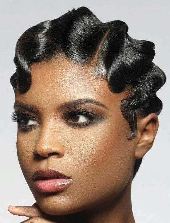 20 S To 30 S Era Style Inspiration Finger Waves Short Hair Hair Waves Finger Wave Hair