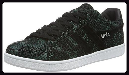 Gola Damen Equipe Reptile Sneakers, Schwarz (Black/Green), 39 EU -