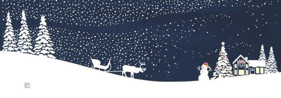 【楽天市場】手ぬぐい「イヴ 紺」クリスマス/横柄/プレゼント:手ぬぐい 染の安坊
