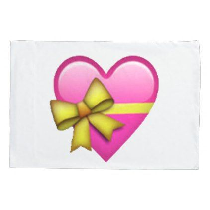 Heart With Ribbon Emoji Pillowcase Zazzle Com Musical Notes Clip Art Heart Shape Box Emoji