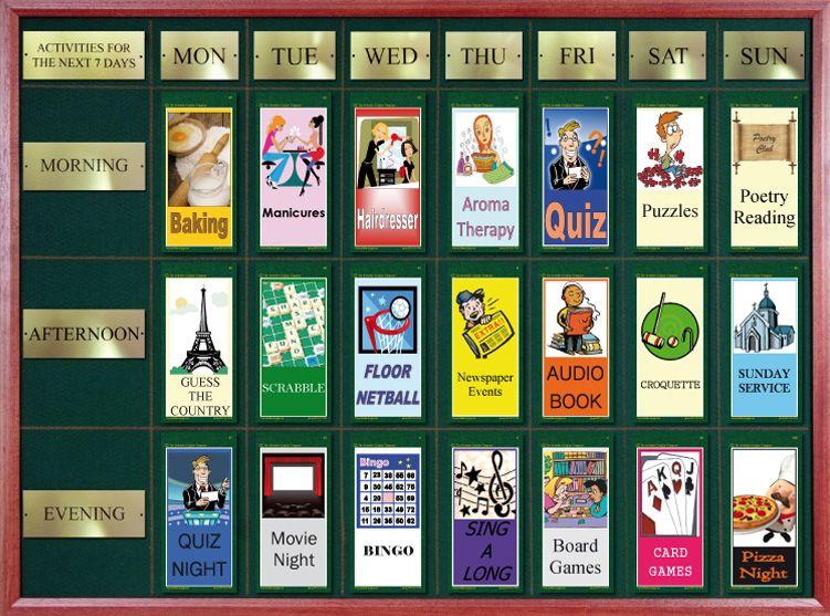 The Activities Display Elderly activities, Activities