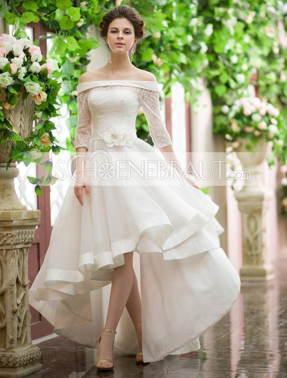 Hochzeitskleid Vorne Kurz Hinten Lang in 15  Hochzeitskleid