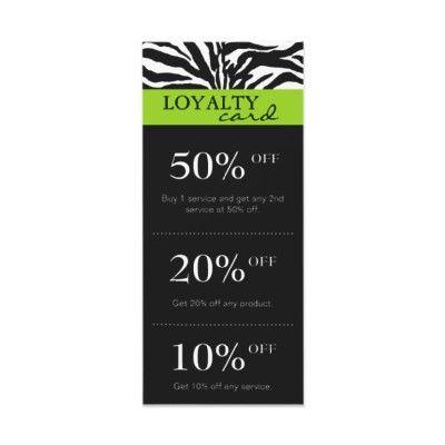 Salon marketing cards zebra lime green black customized for Salon marketing digital