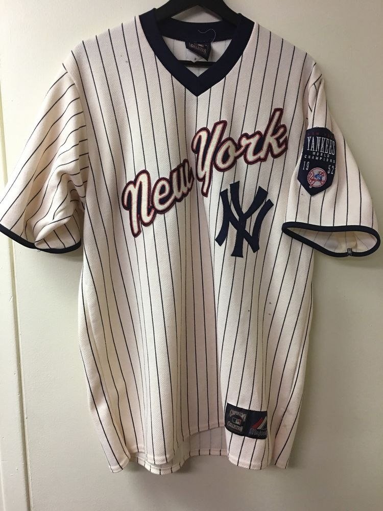 Majestic Cooperstown Mlb New York Yankees Jersey Ebay New York Yankees Vintage Clothes 90s Jersey