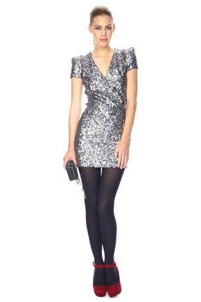66738b764425c silver dress with black tights – Little Black Dress | Black Lace ...