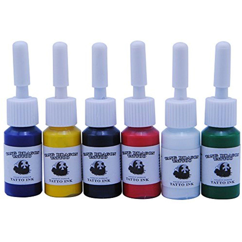 Fashinzone 6 colorsbottles ink pigment set kits body arts
