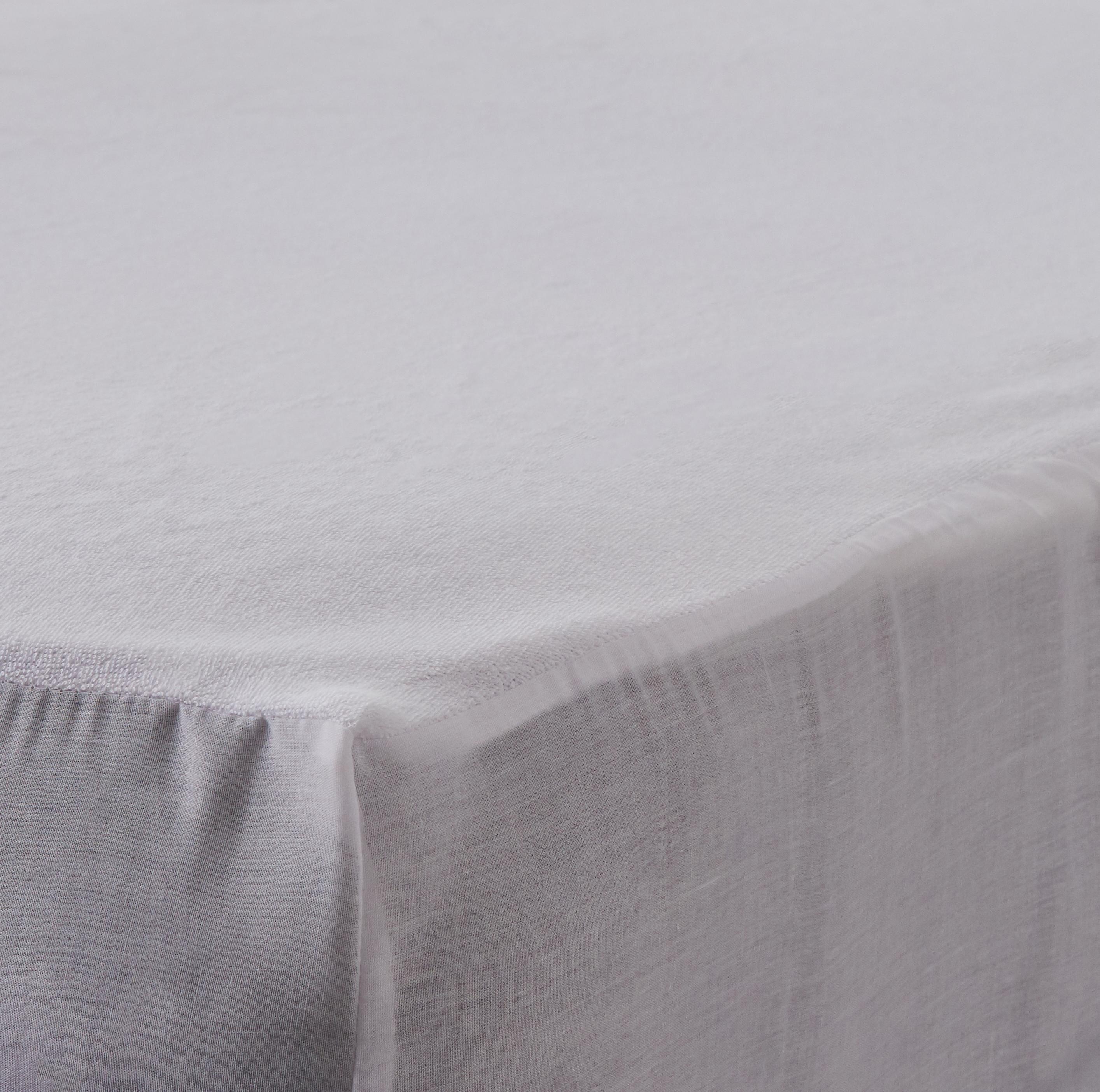 Dunelm Soft Waterproof Cotton White Double Mattress Protector Mattress Protector Mattress Comfort Mattress