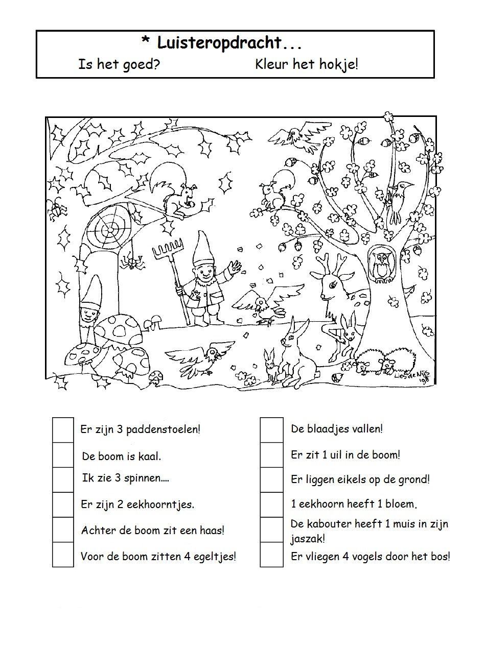 Luisteropdracht Herfst Projecten Schrijflessen Spellingsoefening