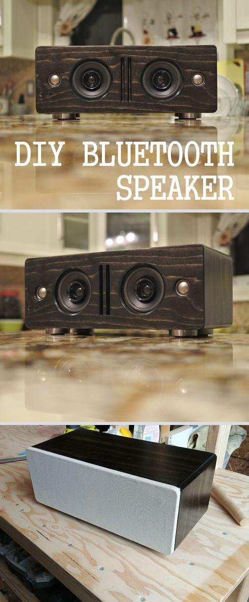 make your own bluetooth speaker woodworking pinterest lautsprecher lautsprecher boxen und. Black Bedroom Furniture Sets. Home Design Ideas