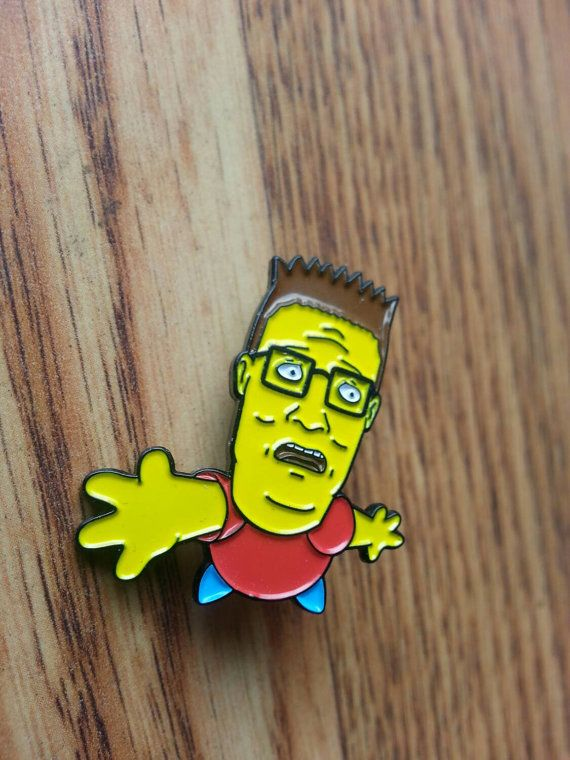 The simpsons king of the hill inspired parody limited edition collectors hat lapel pin