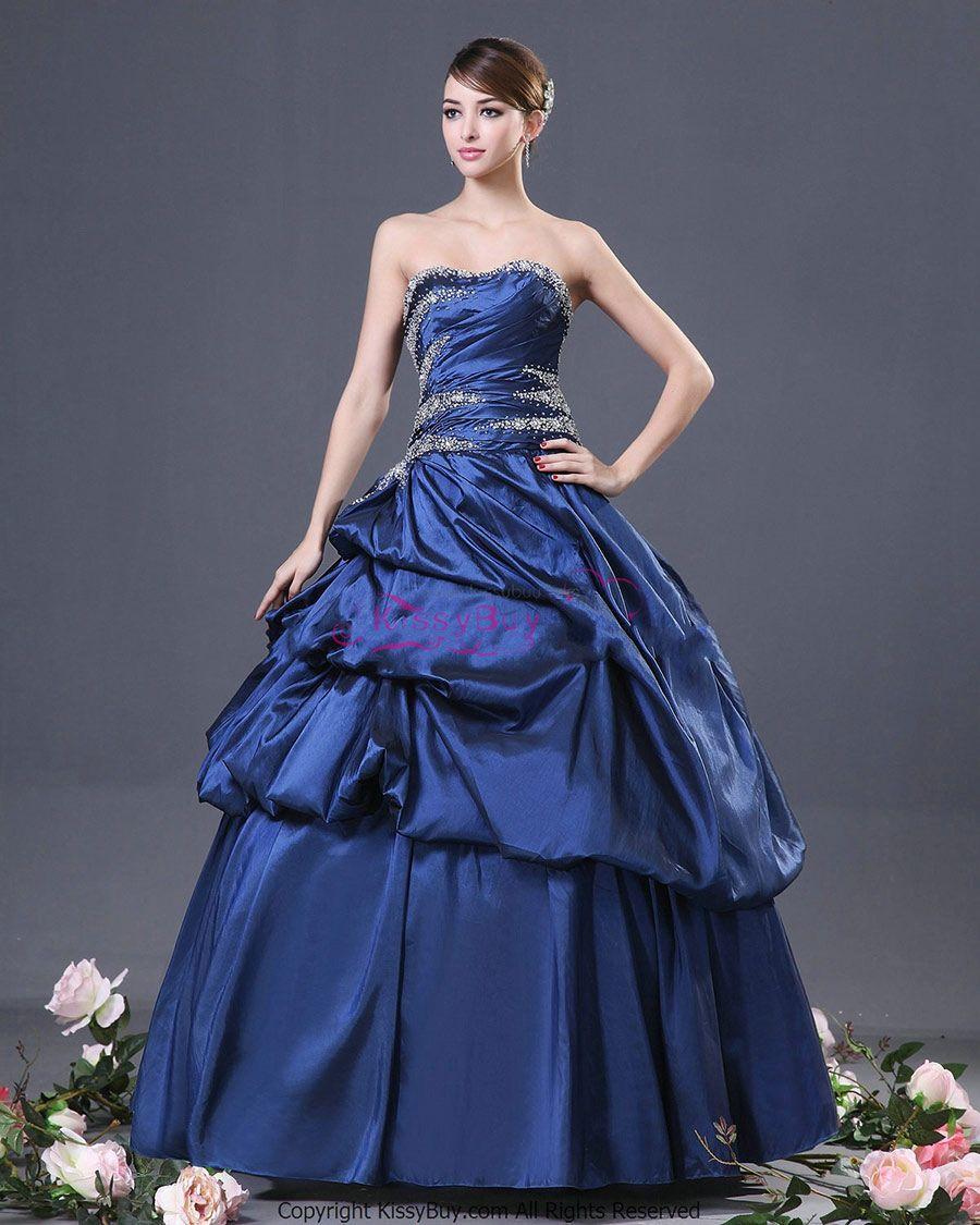 30 vestidos de 15 años largos y cortos en color azul | Vestidos Glam ...
