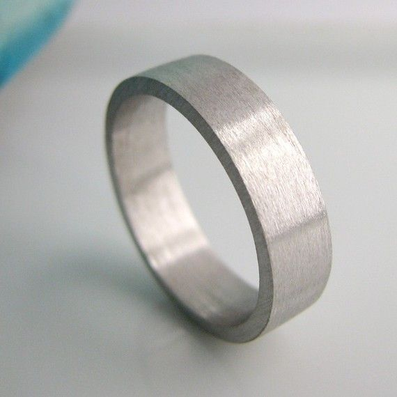 Pure rhodium wedding bands