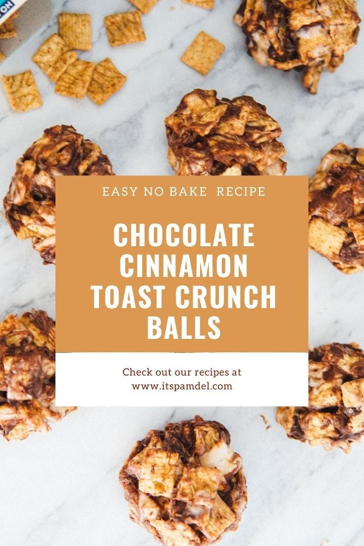 Chocolate cinnamon toast crunch balls its pam del in