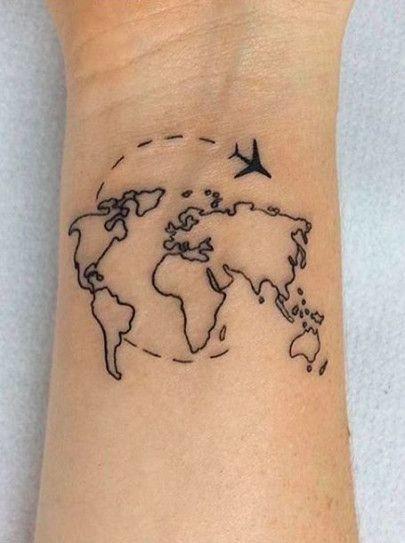 24+ Ideas Travel Tattoo Map Beautiful  – Tats