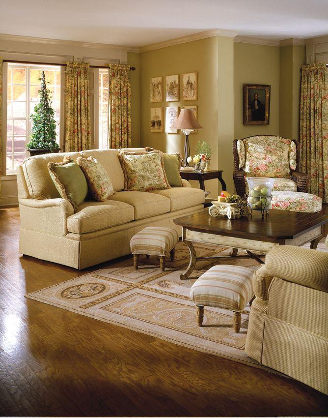 Highland House Furniture: 3040 60   GLOUCESTER LOVESEAT   SKIRTED VERSION