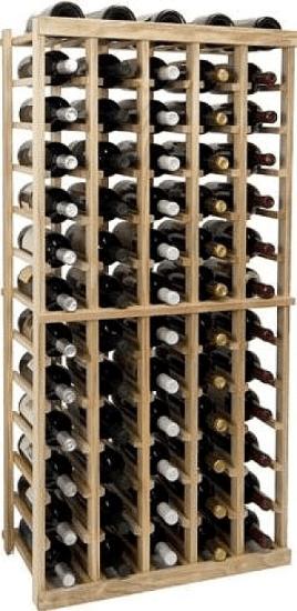 Vintner Series 65 Bottle Floor Wine Rack In Unfinished Wine