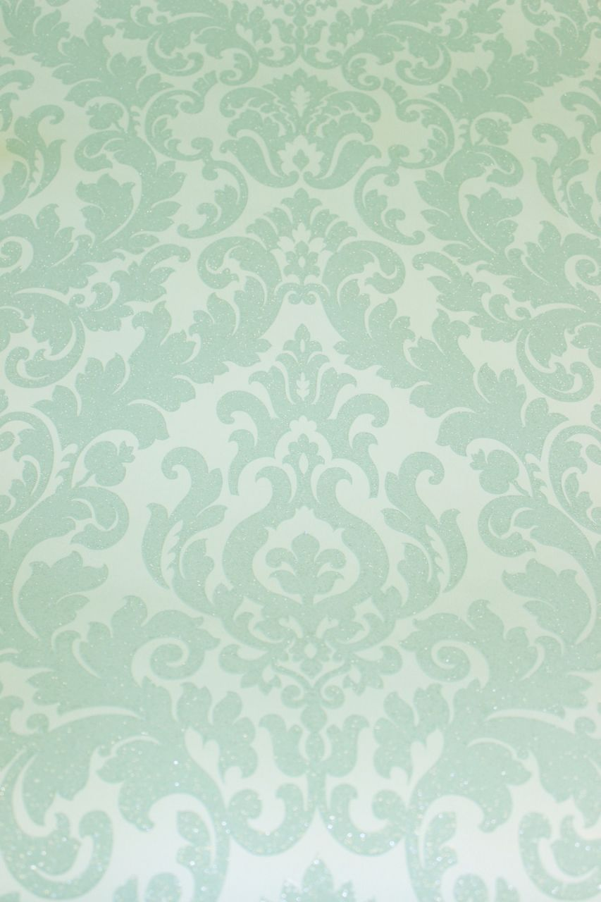 Ornament Vliestapete Damask Mint Green Kreativa By Hohenberger 64797 Barock Tapete Tapeten Barock