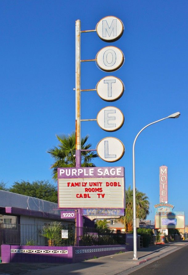 Purple Sage Motel On The East End Of Fremont Street Near Downtown