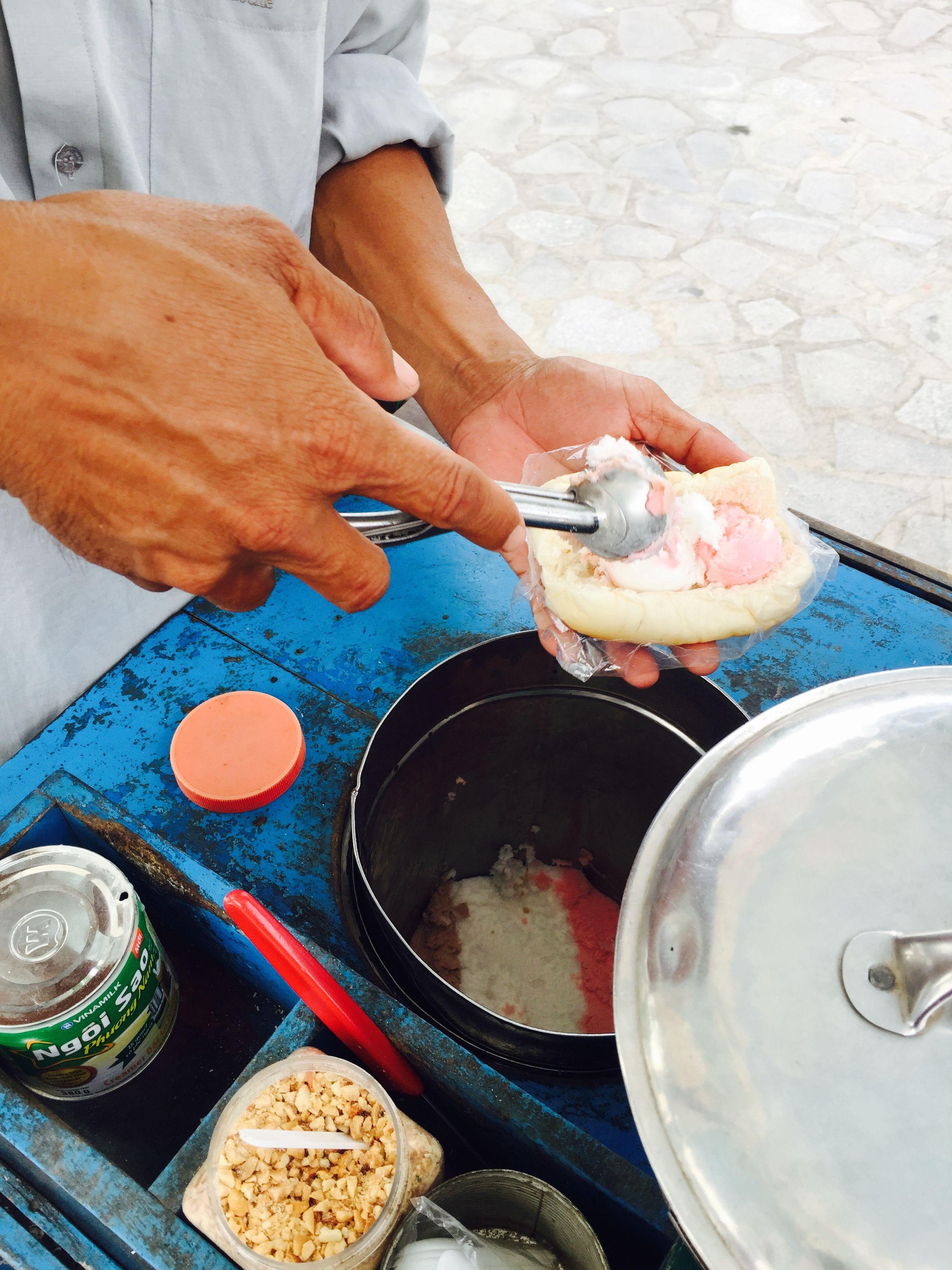 KEM, traditional Vietnamese ice cream. Nha Trang, Vietnam.
