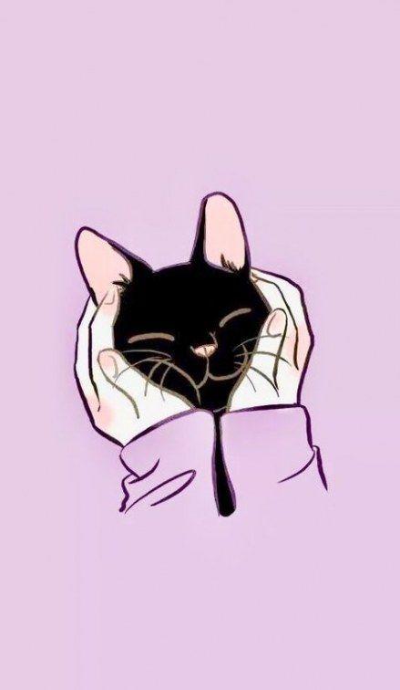 22 Trendy Cats Wallpaper Iphone Anime Cats Illustration De