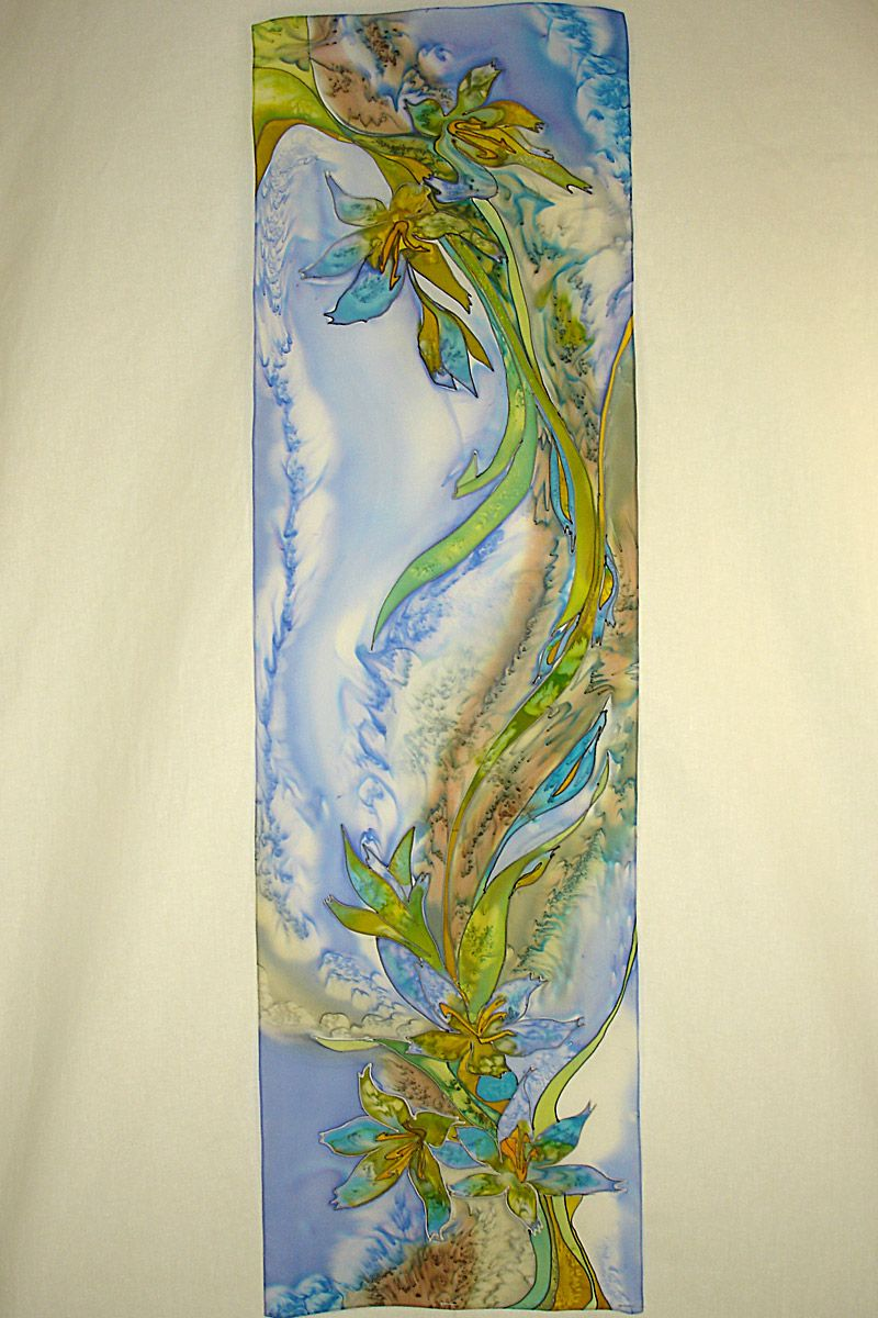 image detail for painted silk scarves for a