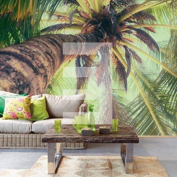 Eijffinger Ibiza Wallpower 330285 Palmboom Groen Behang Tropische Decoratie Decoraties Behang