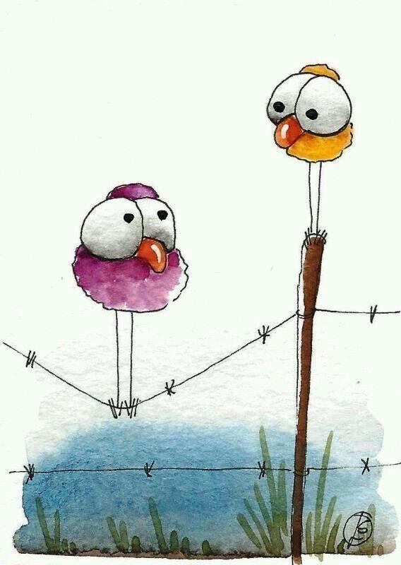 Рисунок птицы смешной, надписями крутые для