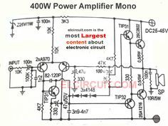 400W and 800W Power Amplifier Circuit | 400w amp | Stereo