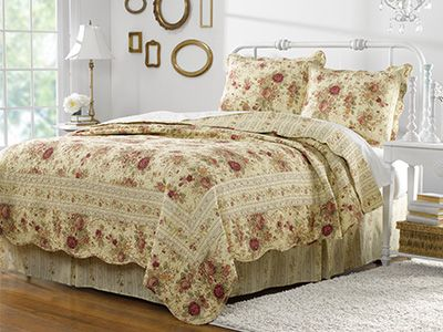 Antique Rose-Quilt Set-Country Decor- Country Bedding- Country ... : country living quilt - Adamdwight.com
