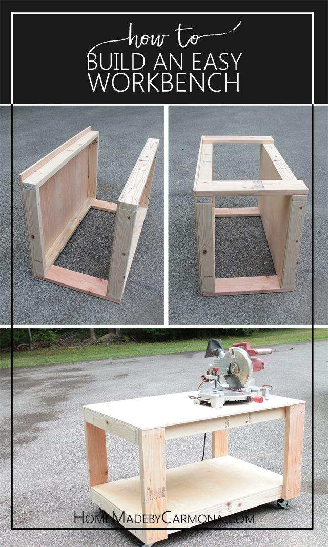 How to: Build An Easy (Super Sturdy) Workbench | Carpintería, Mesas ...