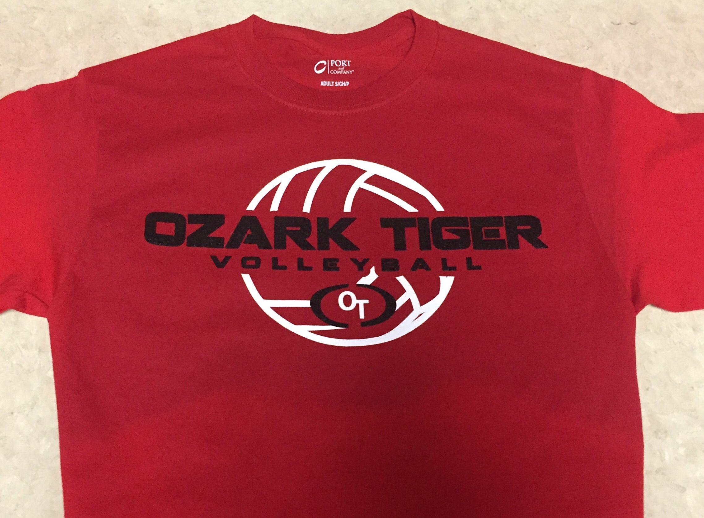 Ozark Tiger Volleyball Ozark Mens Tops Mens Tshirts