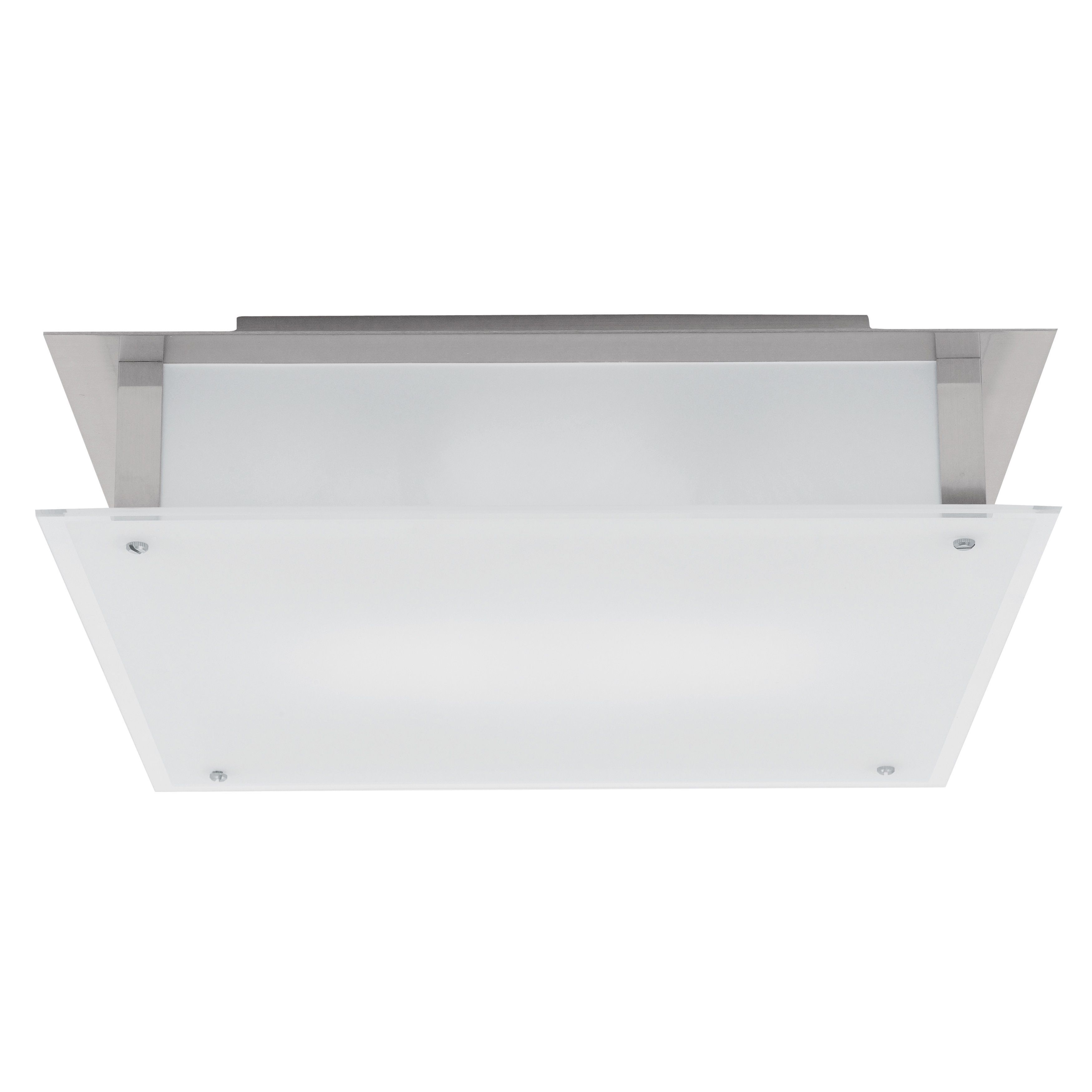 Access lighting vision light brushed steel inch flush mount