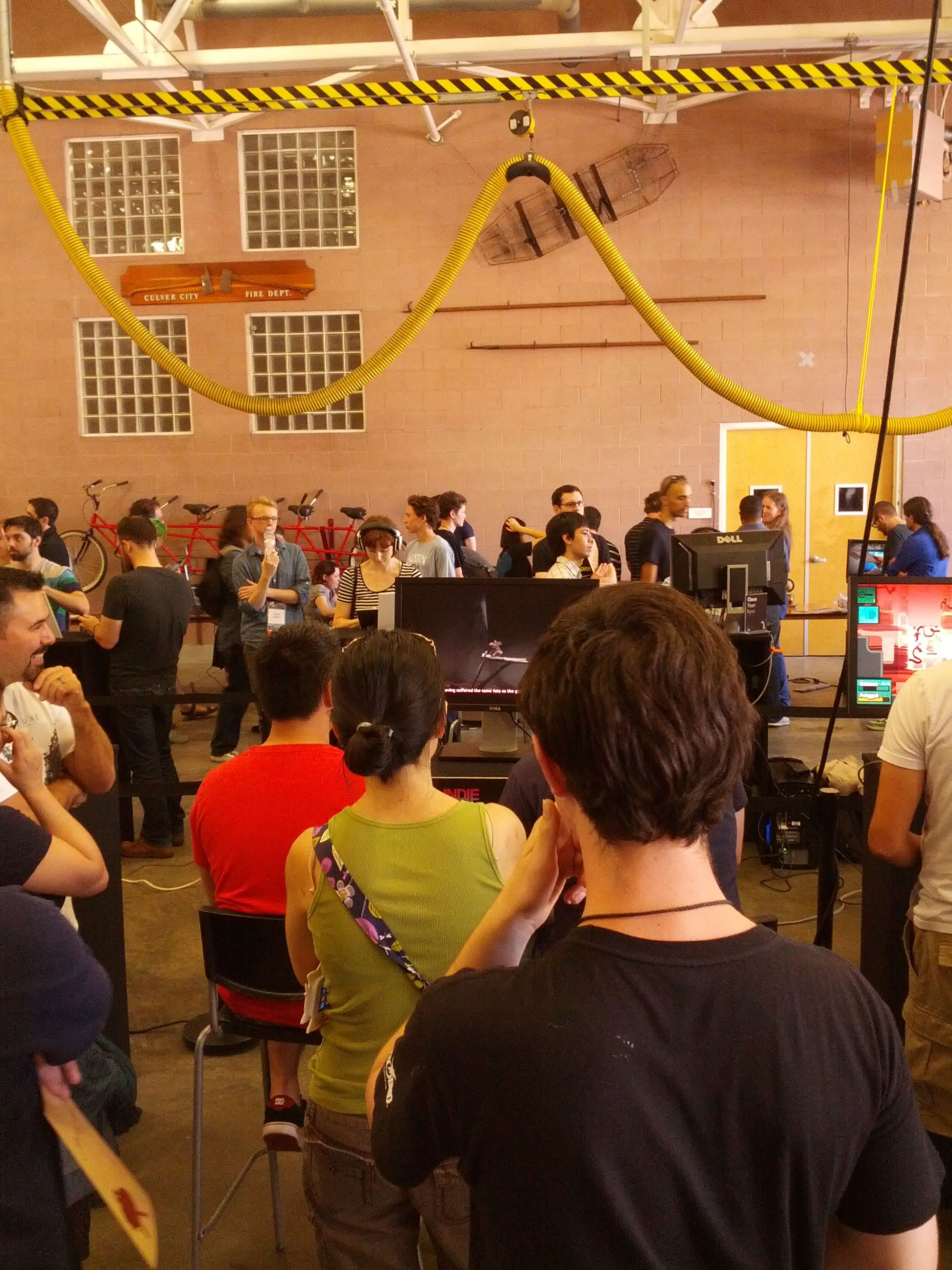 Fans in line to play a demo version of Never Alone at Indiecade 2014. #neveralonegame #indiecade #losangeles #gaming