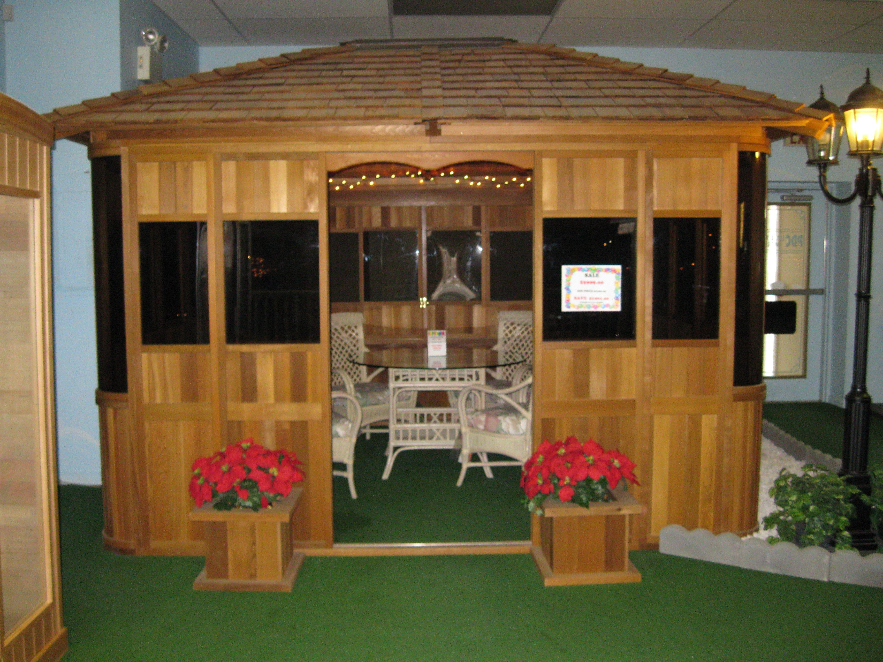 Best This Attractive Multi Purpose 10 X10 Western Red Cedar Gazebo Enclosure With Cedar Shingle Roof 400 x 300