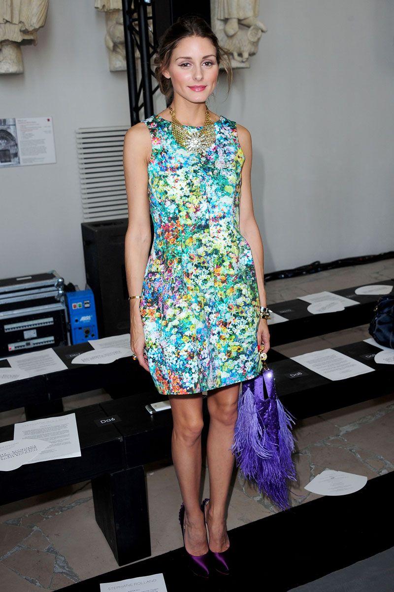 14d3f0395 Olivia Palermo: minivestido floral | Alexa, Olsen, Olivia, Chufy ...