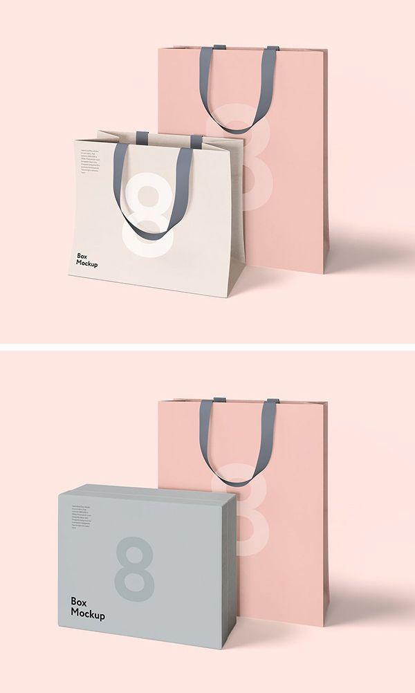ec75ca2b4 Free Luxury Box & Bag Mockups | Mockup Templates for Designers | Bag ...