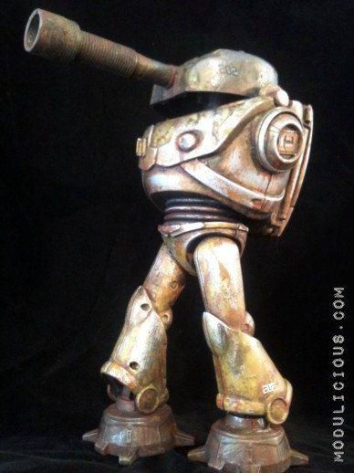 Steampunk Tank Walker Mech Battle Worn Robot Buzz by kyoob