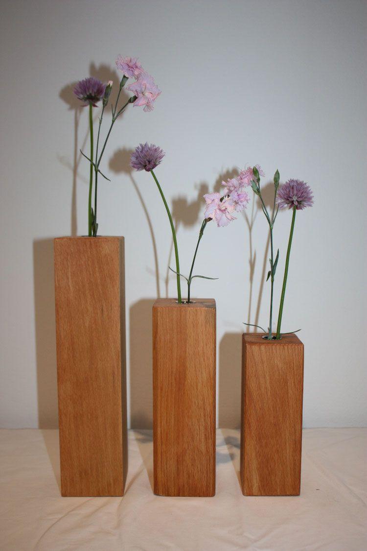 Reagenzglasvase Aus Holz Holzvase Deko Dekoration Holz Vase Holzvase Dekor