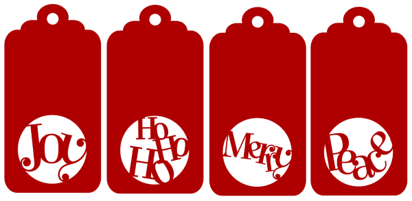 Christmas Gift Tags Template.Free Silhouette Cut File For Four Christmas Gift Tags Plus A
