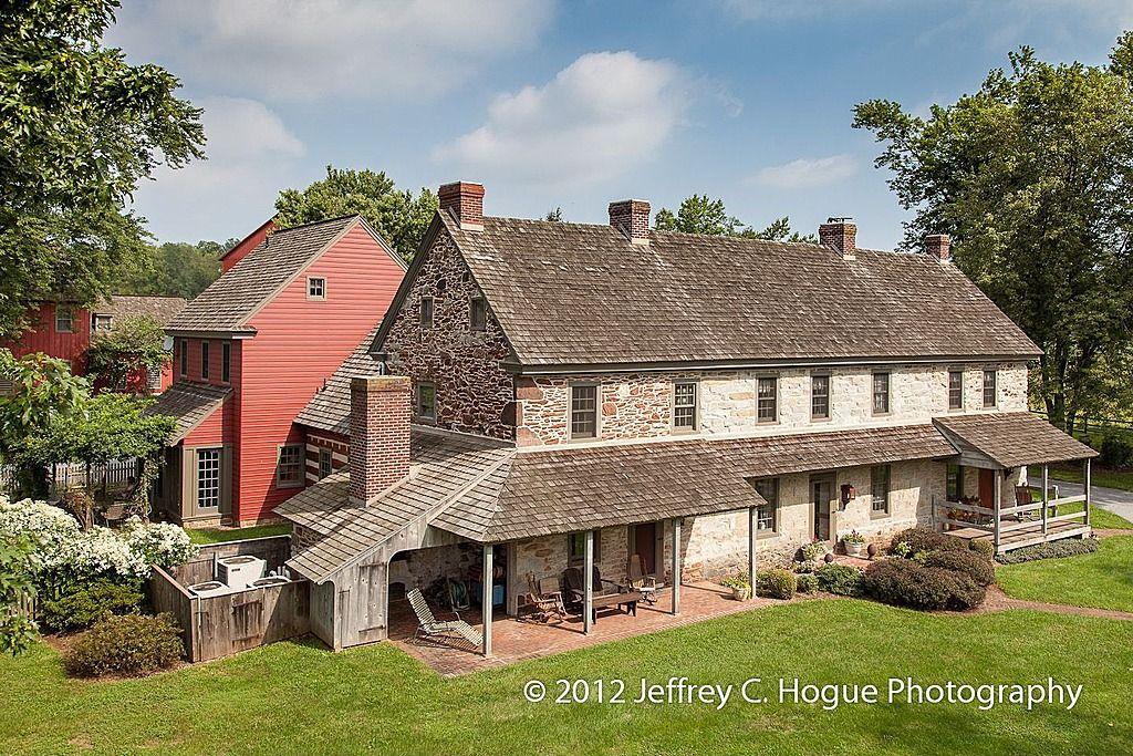 Douglassville Home Colonial Farmhouse Stone Houses Colonial House
