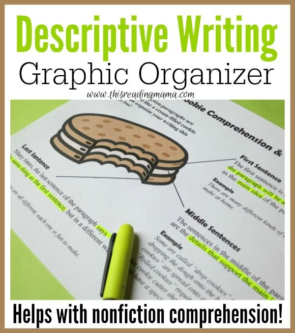 descriptive writing graphic organizer graphic organizers descriptive writing graphic organizer pack helps kids to both comprehend and compose
