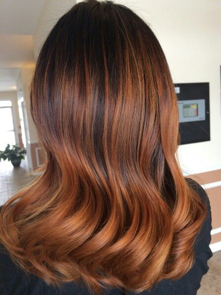 The Beauty Bar Balayage Hair Copper Pumpkin Spice Hair Copper Hair Color
