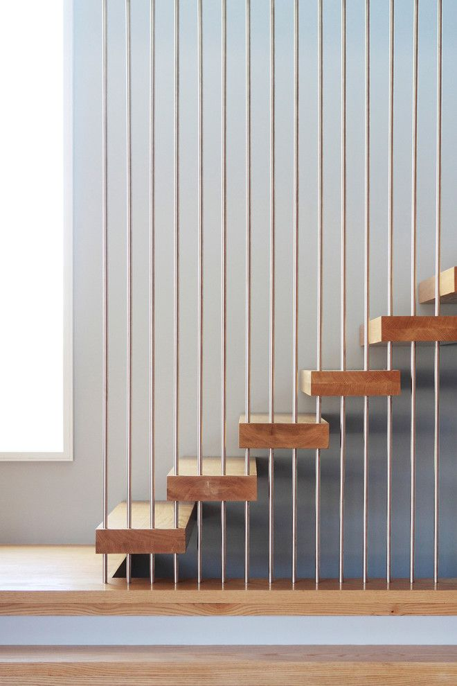 Stair Rods Staircase Modern With Floating Stairs Modern