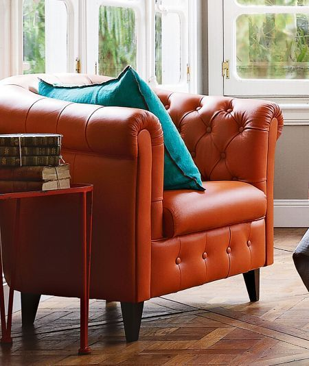 Dublin Hand Buttoned Leather Tub Chair Domayne Online