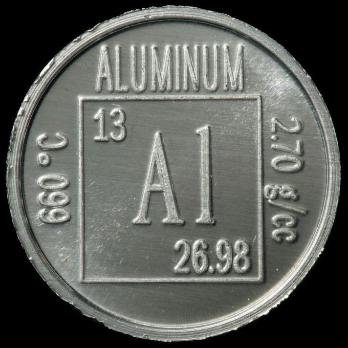 Aluminum Periodic Symbol Aluminum Project Pinterest