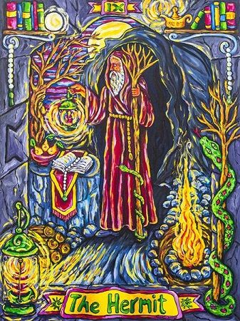 The Hermit, Pearls of Wisdom Tarot, 2nd Ed.