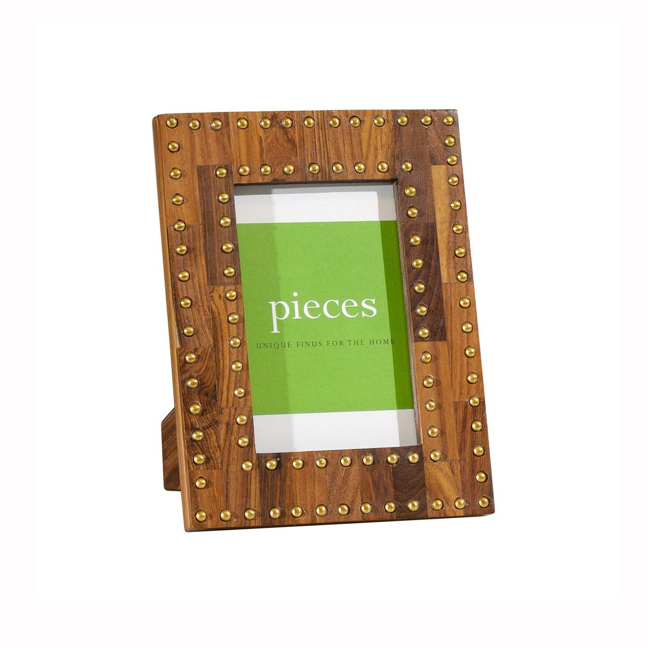 Wood & Gold Studded Frame | Pieces