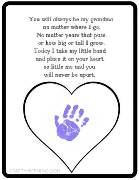 Printable Motheru0027s Day Gift Idea For Grandma   Kids Handprint Craft Idea