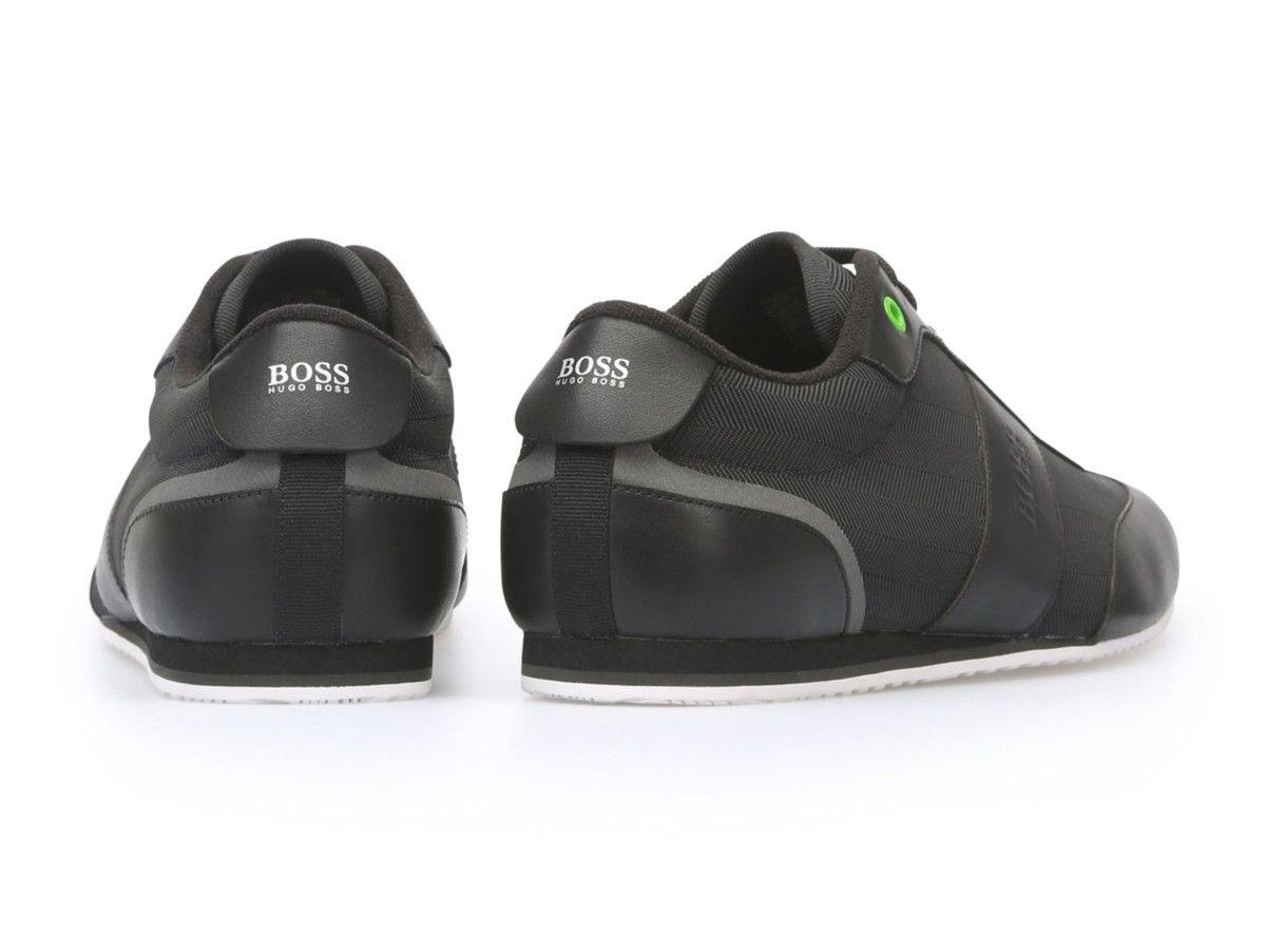 a30fc084679c1 Zapatos Hugo Boss negros · Zapatos Hugo Boss en piel y poliéster · Zapatos Hugo  Boss con cordones al t.